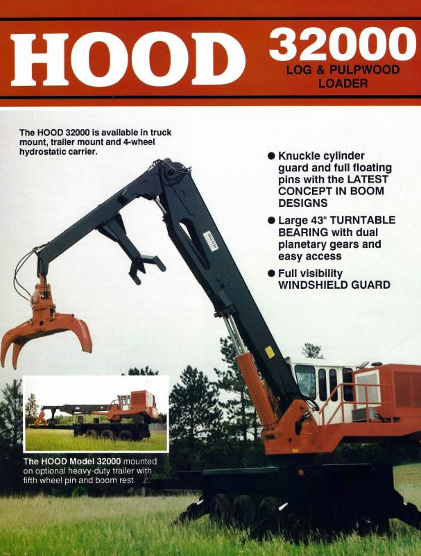Hood 32000 log & pulpwood Loader